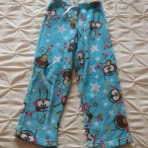 🆕Soft and fuzzy monkey pajama bottoms
